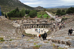 Another view of the huge stadium at the Ephesus ruins Stock Photo
