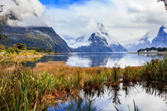 Another view point of milford sound in fjord land national park Stock Photo