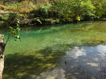 Another view of voidomatis river in zagorohoria Stock Images