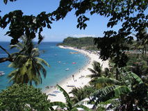 Another view White Beach - Puerto Galera Stock Photos