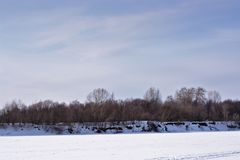 another winter riverbank stock photography