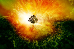another world in dreams tree concept art Royalty Free Stock Images