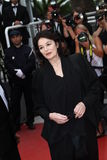 Anouk Aimee. CANNES, FRANCE - MAY 22: Anouk Aimee attends the 'Les Bien-Aimes' premiere at the Palais des Festivals during the 64th Cannes Film Festival on May Royalty Free Stock Images