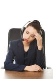 Anoyed support phone operator Royalty Free Stock Photography