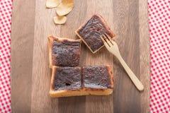 Anpan,红豆面包 免版税库存照片