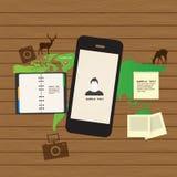 Anpassungsfähiger und entgegenkommender Webdesignikonensatz Stockfotos