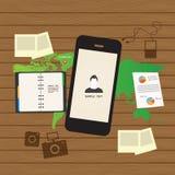 Anpassungsfähiger und entgegenkommender Webdesignikonensatz Lizenzfreie Stockbilder