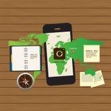 Anpassungsfähiger und entgegenkommender Webdesignikonensatz Lizenzfreie Stockfotografie