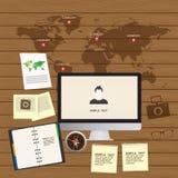 Anpassungsfähiger und entgegenkommender Webdesignikonensatz Stockfoto