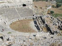 Anphitheatre in Anatolië stock afbeelding