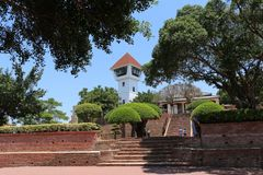 ANPING FORT, TAIWAN - APRIL 14, 2015. Anping Fort or Fort Zeelandia at Anping District, Taiwan on April 14, 2015. This fortress was built over 10 years from Stock Image