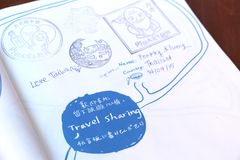 ANPING, TAIWAN - APRIL 14, 2015. Scrapbook Stamp at Anping tourist attraction at Taiwan on April 14, 2015. There is a stamp point for tourist at various Royalty Free Stock Images