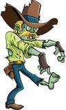 Anpirschender Zombie der Karikatur Stockfotos