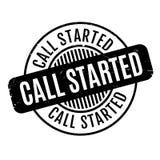 Anruf begonnener Stempel Lizenzfreie Stockbilder