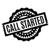 Anruf begonnener Stempel Stockfoto