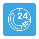 Anruf 24 Stunden Lizenzfreie Stockfotos