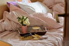 Anruf zum Bett Stockbilder