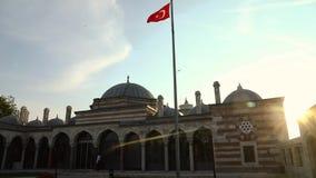Anruf zur Gebets-blauen Moschee, Istanbul, die Türkei stock footage