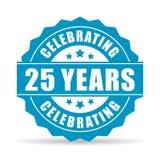 25 ans célébrant l'icône de vecteur illustration de vecteur