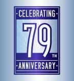 79 ans c?l?brant le calibre de conception d'anniversaire : Vecteur et illustration illustration libre de droits