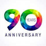 90 ans colorés Images stock
