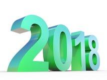 2018 ans conceptuel de police verte brillante en métal Photographie stock