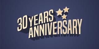 30 ans d'anniversaire d'icône de vecteur, logo Photographie stock libre de droits