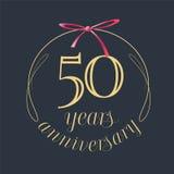 50 ans d'anniversaire de célébration d'icône de vecteur, logo Photo stock