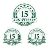 15 ans d'anniversaire de calibre de conception Vecteur et illustration d'anniversaire 15ème logo illustration de vecteur