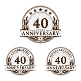 40 ans d'anniversaire de calibre de conception Vecteur et illustration d'anniversaire quarantième logo illustration de vecteur