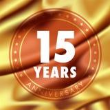 15 ans d'anniversaire d'icône de vecteur, logo Photo libre de droits