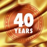 40 ans d'anniversaire d'icône de vecteur, logo Photos libres de droits