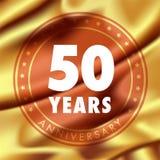 50 ans d'anniversaire d'icône de vecteur, logo Photo libre de droits