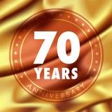 70 ans d'anniversaire d'icône de vecteur, logo Photos stock