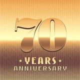 70 ans d'anniversaire d'icône de vecteur, symbole Image libre de droits