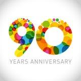 90 ans d'anniversaire illustration stock