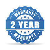 2 ans d'icône de garantie illustration de vecteur