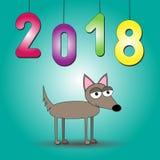 2018 ans d'illustration de vecteur de chien illustration libre de droits