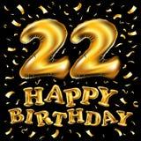 22 ans de célébration d'anniversaire Calibre d'affiche ou de brochure Illustration de vecteur Photo libre de droits