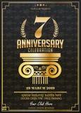 7 ans de célébration d'anniversaire Logo d'anniversaire illustration de vecteur