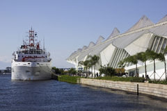 100 ans de l'académie des sciences brésilienne - bateau de la Marine Images libres de droits