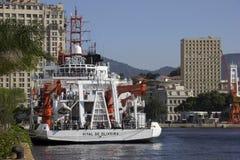 100 ans de l'académie des sciences brésilienne - bateau de la Marine Images stock