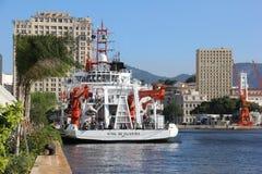 100 ans de l'académie des sciences brésilienne - bateau de la Marine Photo libre de droits