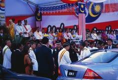 50 ans de Merdeka de la Malaisie : Célébration avec des Royals et des ministres dans la ville de Kula Lupur photographie stock libre de droits