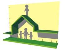Ans de revenus de maison familiale illustration libre de droits