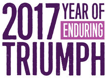 2017 ans de Triumph durable Photos libres de droits