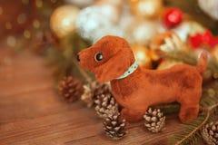 2018 ans du chien, décorations de Noël Image libre de droits