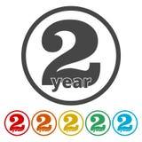 1, 2, 3, 4, 5 ans et labels de garantie à vie ou ensemble plat d'icônes de joint illustration stock