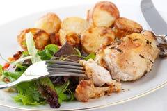 ans kurczak gotujący rozmarynowi warzywa obrazy royalty free