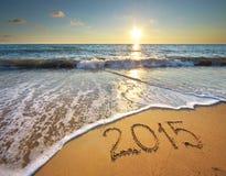 2015 ans sur la mer Images libres de droits